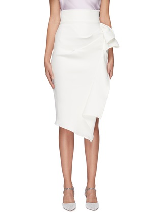 Main View - Click To Enlarge - Maticevski - 'Olimpus' ruffle drape skirt