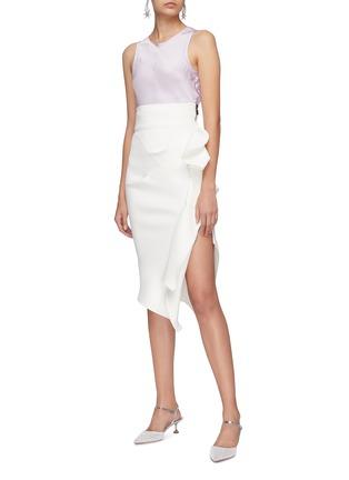 Figure View - Click To Enlarge - Maticevski - 'Olimpus' ruffle drape skirt