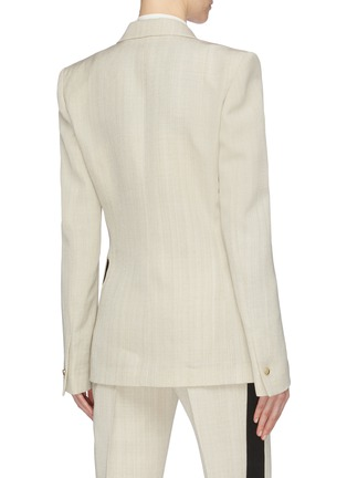 Back View - Click To Enlarge - PETAR PETROV - 'Jerry' slant button virgin wool double breasted blazer