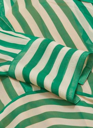 - PETAR PETROV - 'Dikon' sash tie neck panelled stripe silk dress