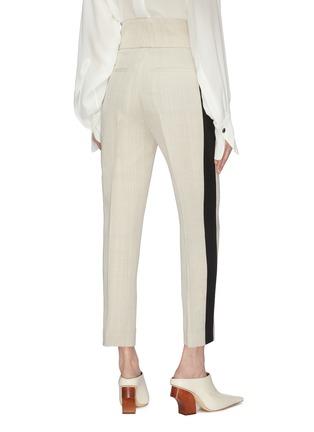 Back View - Click To Enlarge - PETAR PETROV - 'Halma' stripe outseam pintuck pants