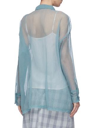 Back View - Click To Enlarge - DAWEI - Organdy shirt
