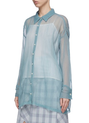 Front View - Click To Enlarge - DAWEI - Organdy shirt
