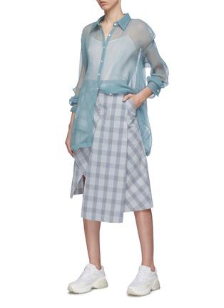 Figure View - Click To Enlarge - DAWEI - Organdy shirt