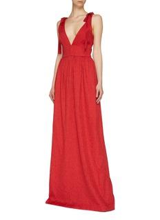 Rebecca Vallance Tie shoulder V-neck gown