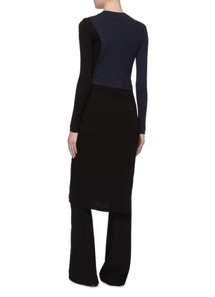 Back View - Click To Enlarge - ROSETTA GETTY - Tie side colourblock dress
