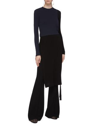 Figure View - Click To Enlarge - ROSETTA GETTY - Tie side colourblock dress