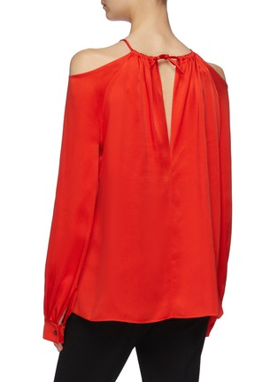 Back View - Click To Enlarge - ROSETTA GETTY - Blouson sleeve cold shoulder top