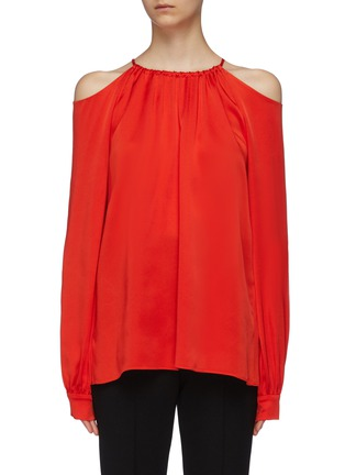 Main View - Click To Enlarge - ROSETTA GETTY - Blouson sleeve cold shoulder top