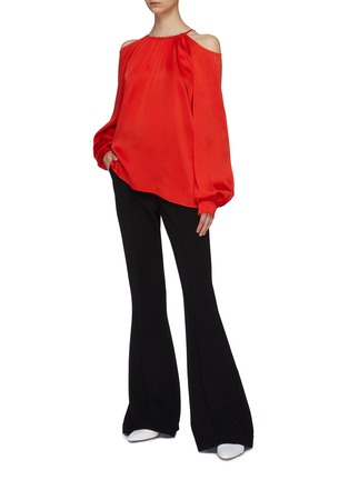 Figure View - Click To Enlarge - ROSETTA GETTY - Blouson sleeve cold shoulder top