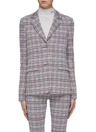 Main View - Click To Enlarge - ROSETTA GETTY - Tartan plaid blazer