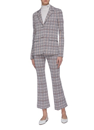 Figure View - Click To Enlarge - ROSETTA GETTY - Tartan plaid blazer