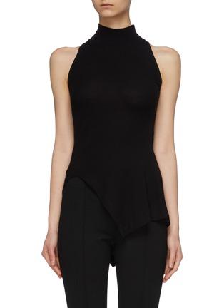 Main View - Click To Enlarge - ROSETTA GETTY - Asymmetric mock neck sleeveless top