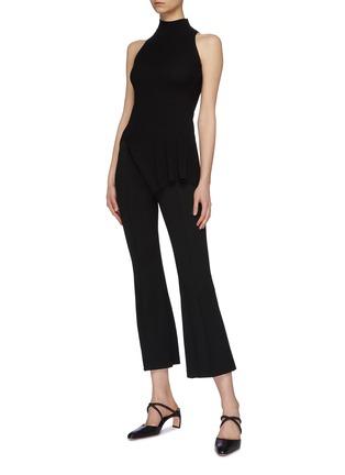 Figure View - Click To Enlarge - ROSETTA GETTY - Asymmetric mock neck sleeveless top