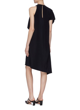 Back View - Click To Enlarge - ROSETTA GETTY - Asymmetric drape cross front dress