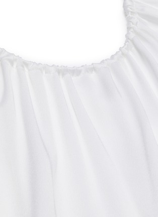 - ROSETTA GETTY - Blouson sleeve cold shoulder gown