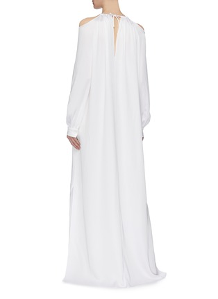 Back View - Click To Enlarge - ROSETTA GETTY - Blouson sleeve cold shoulder gown