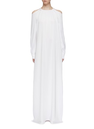 Main View - Click To Enlarge - ROSETTA GETTY - Blouson sleeve cold shoulder gown