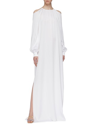 Figure View - Click To Enlarge - ROSETTA GETTY - Blouson sleeve cold shoulder gown