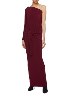 Norma Kamali Sleeve tie convertible off-shoulder dress