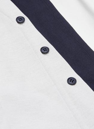 - THE KEIJI - Detachable panel belted colourblock coat