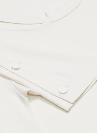 - THE KEIJI - Cutout collar asymmetric T-shirt