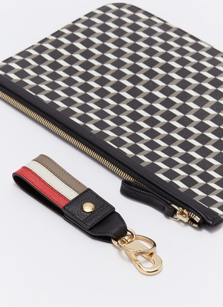 - Pierre Hardy - 'Cube Perspective' print keychain pouch