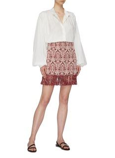 Chloé Fringe hem graphic jacquard mini skirt