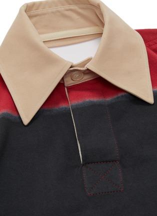 - SIRLOIN - 'Rug' open back sash drape colourblock polo dress