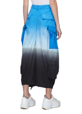 Back View - Click To Enlarge - SIRLOIN - 'Raymond2' tiered cuff ombré wide leg cargo pants