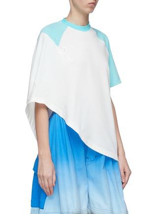 Detail View - Click To Enlarge - SIRLOIN - 'Bukko-T' asymmetric drape panel colourblock raglan T-shirt