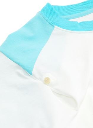 - SIRLOIN - 'Bukko-T' asymmetric drape panel colourblock raglan T-shirt