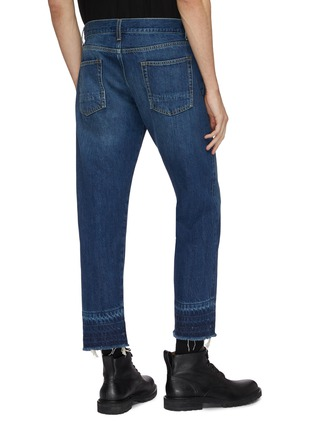 Back View - Click To Enlarge - Alexander McQueen - Distressed let-out cuff jeans