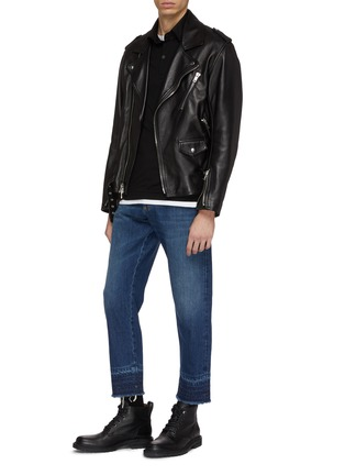 Figure View - Click To Enlarge - Alexander McQueen - Distressed let-out cuff jeans