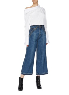 self-portrait x Lee curve pocket denim culottes