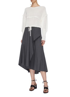 3.1 Phillip Lim Drawstring tiered cropped sweater
