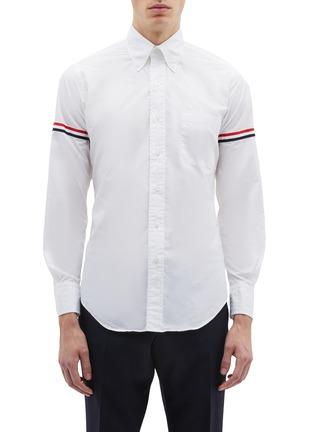 75d153328068 Thom Browne Stripe sleeve shirt
