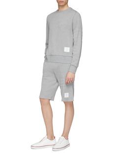 Thom Browne Stripe honeycomb piqué sweat shorts