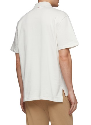 Back View - Click To Enlarge - THOM BROWNE - Swimmers print knit polo shirt