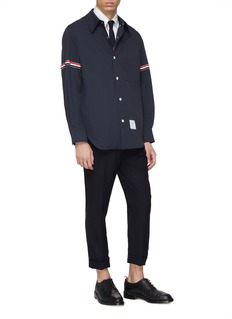 Thom Browne Stripe sleeve shirt jacket