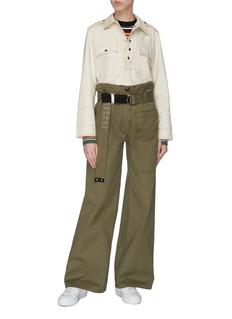 LA FETICHE 'David' belted wide leg cargo pants