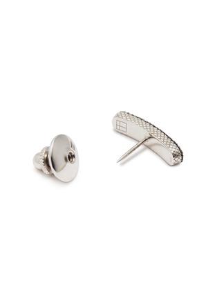 Detail View - Click To Enlarge - TATEOSSIAN - 'Baton' diamond rhodium silver pin