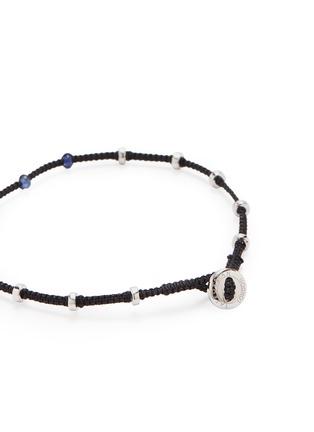 Detail View - Click To Enlarge - TATEOSSIAN - 'Lusso' sapphire bead macramé bracelet