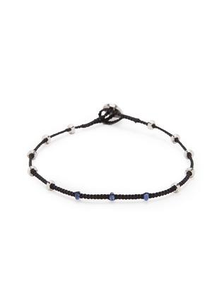 Main View - Click To Enlarge - TATEOSSIAN - 'Lusso' sapphire bead macramé bracelet