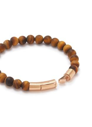 Detail View - Click To Enlarge - TATEOSSIAN - Tiger eye bead 18k rose gold silver bracelet