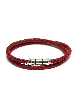 Main View - Click To Enlarge - TATEOSSIAN - 'Montecarlo' double wrap braided leather bracelet