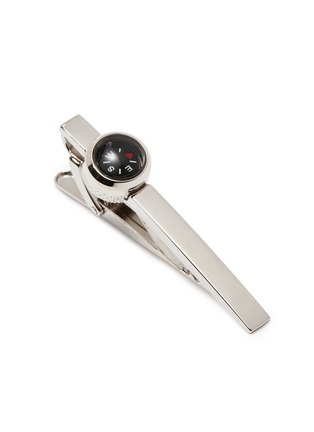 Detail View - Click To Enlarge - TATEOSSIAN - 'Compass' rhodium silver tie clip