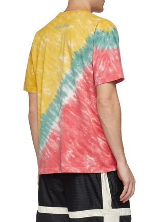 Back View - Click To Enlarge - JUST DON - 'Dunking Robot' graphic print tie-dye effect T-shirt