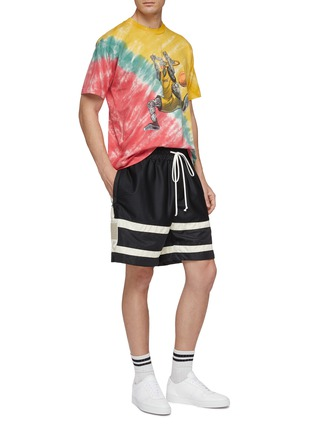 Figure View - Click To Enlarge - JUST DON - 'Dunking Robot' graphic print tie-dye effect T-shirt
