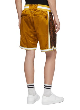Back View - Click To Enlarge - Just Don - Leopard print outseam stripe border basketball shorts